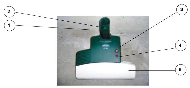 Accessorio ET 340 battitappeto /materasso per Folletto modello VK 120, VK 121, VK 122