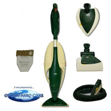 """Folletto Vorwerk 130-131 con spazzola normale + EB 350/51 Battitappeto / Battimaterasso + PL 515 Lucidatrice + PB 420 """"Picchio"""""""