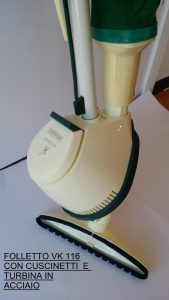 Folletto VK 116 con cuscinetti e ventola in acciaio